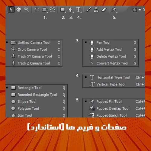 صفحات و فریم ها (استاندارد) در نرم افزار افترافکت
