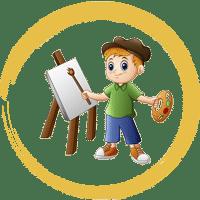 کلاس نقاشی کودک در باغ آینه